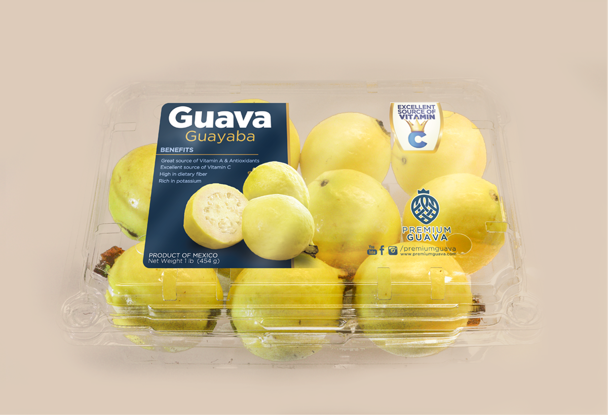 white guava yellow guava mexican guava clamshell